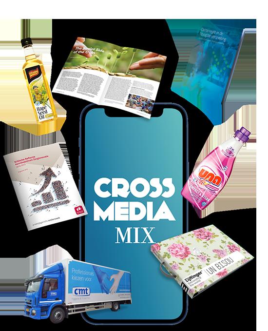 Cross media mix Grafisch vormgevers en dtp-ers